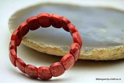 Schitterend Armband Bloedrode koraal A1399