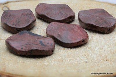 5 Beschermende Red Veins Jaspis kralen K530