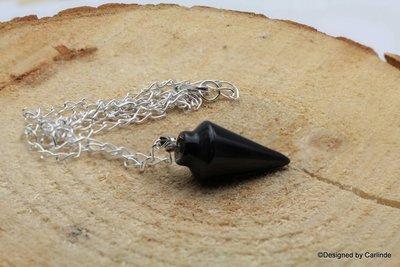 Beschermende talisman pendel/ collier  van  Obsidiaan P122