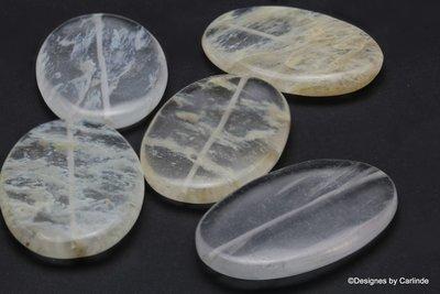 5 Bergkristal Reuze Kralen met natuurlijke insluitsels K2019