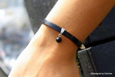 Mooi armbandje met Beschermende Obsidiaan A1026