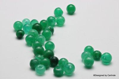 Leuke, ca. 6mm, groen agaat kralen K2210