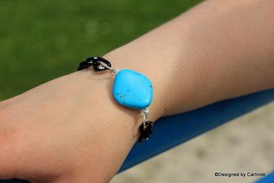 Schakel Armband met Turquereniet A2210