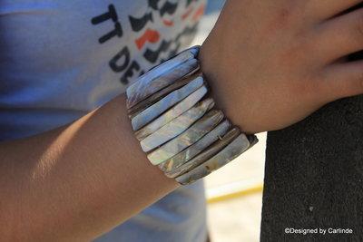 Schitterende Armband van White power Shell A2240