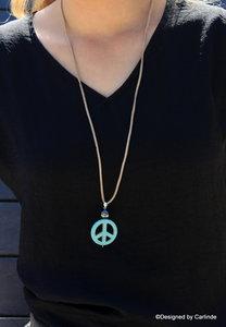 Krachtige Hematiet Talisman met Turquereniet Peace Amulet C719