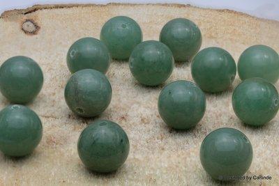 12 stuks Reuze kraal groene Aventurijn 16 mm K539